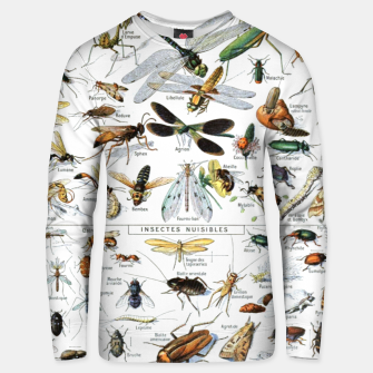 Fashion and of an Illustration Map with Insects, from Larouse Encyclopedia Unisex sweater Bild der Miniatur