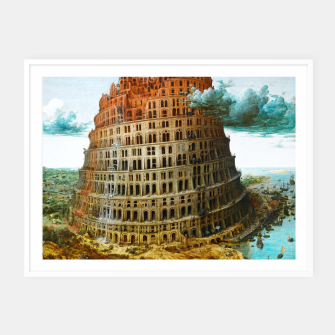 Thumbnail image of Fashion items of Peter Bruegel the Elder painting, The Tower of Babel Framed poster, Live Heroes