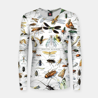 Fashion and of an Illustration Map with Insects, from Larouse Encyclopedia Women sweater Bild der Miniatur