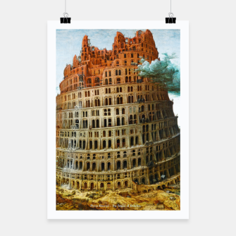 Fashion items of Peter Bruegel the Elder painting, The Tower of Babel Poster miniature