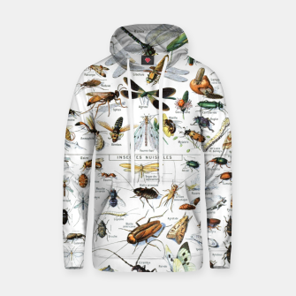 Fashion and of an Illustration Map with Insects, from Larouse Encyclopedia Hoodie Bild der Miniatur