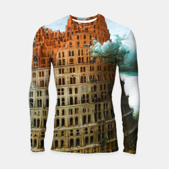 Thumbnail image of Fashion items of Peter Bruegel the Elder painting, The Tower of Babel Longsleeve rashguard , Live Heroes