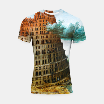 Thumbnail image of Fashion items of Peter Bruegel the Elder painting, The Tower of Babel Shortsleeve rashguard, Live Heroes