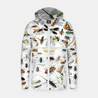 Fashion and of an Illustration Map with Insects, from Larouse Encyclopedia Zip up hoodie Bild der Miniatur