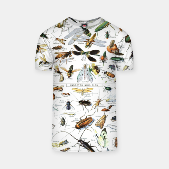 Fashion and of an Illustration Map with Insects, from Larouse Encyclopedia T-shirt Bild der Miniatur
