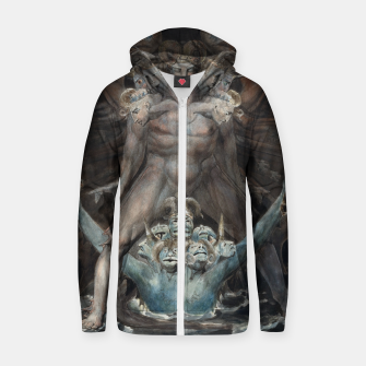 Thumbnail image of Fashion items of William Blake illustration , The Great Red Dragon and the Beast from the Sea Zip up hoodie, Live Heroes