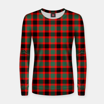 Christmas Tartan Pattern Women sweater miniature