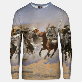 Thumbnail image of Fashion items of Frederic Remington painting - A dash for Timber Unisex sweater, Live Heroes