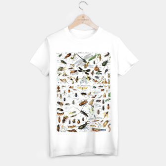 Fashion and of an Illustration Map with Insects, from Larouse Encyclopedia T-shirt regular Bild der Miniatur