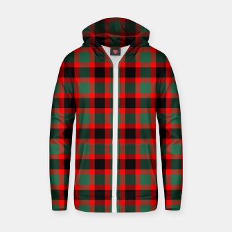Christmas Tartan Pattern Zip up hoodie miniature