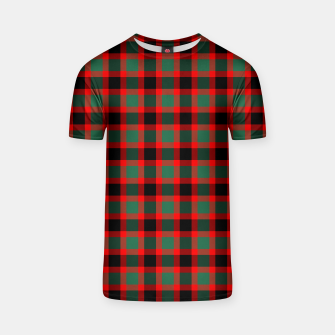 Christmas Tartan Pattern T-shirt miniature