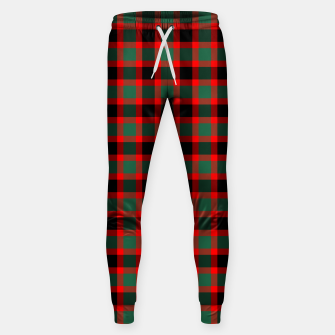 Christmas Tartan Pattern Sweatpants miniature