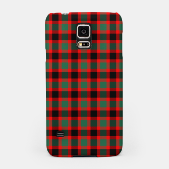 Christmas Tartan Pattern Samsung Case miniature