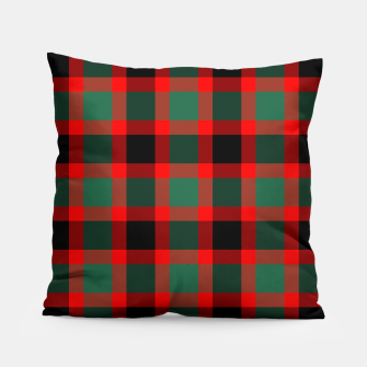 Christmas Tartan Pattern Pillow miniature