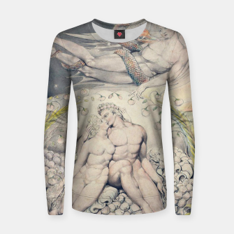 Miniatur Fashion items of William Blake Watercolour- Paradise Lost Women sweater, Live Heroes