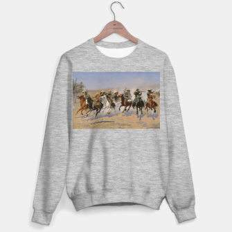 Thumbnail image of Fashion items of Frederic Remington painting - A dash for Timber Sweater regular, Live Heroes