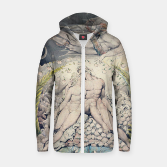 Miniatur Fashion items of William Blake Watercolour- Paradise Lost Zip up hoodie, Live Heroes