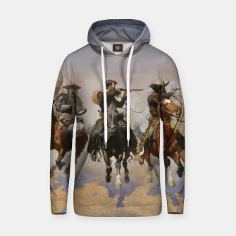 Thumbnail image of Fashion items of Frederic Remington painting - A dash for Timber Hoodie, Live Heroes