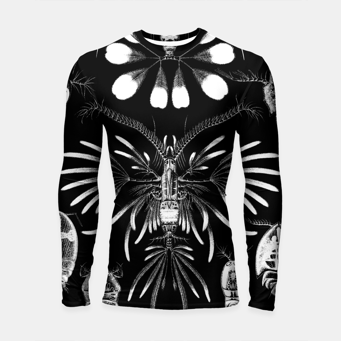 Foto Fashion art of an old Encyclopedia Illustration - Insects Longsleeve rashguard  - Live Heroes