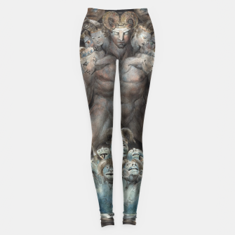 Thumbnail image of Fashion items of William Blake illustration , The Great Red Dragon and the Beast from the Sea Leggings, Live Heroes