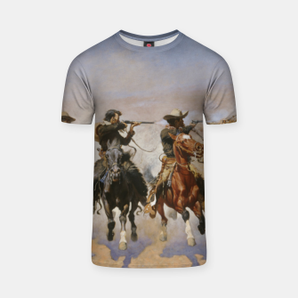 Thumbnail image of Fashion items of Frederic Remington painting - A dash for Timber T-shirt, Live Heroes