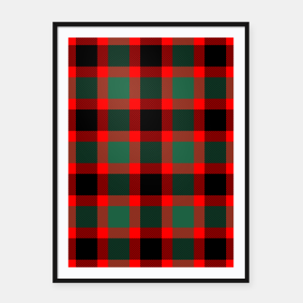 Christmas Tartan Pattern Framed poster miniature