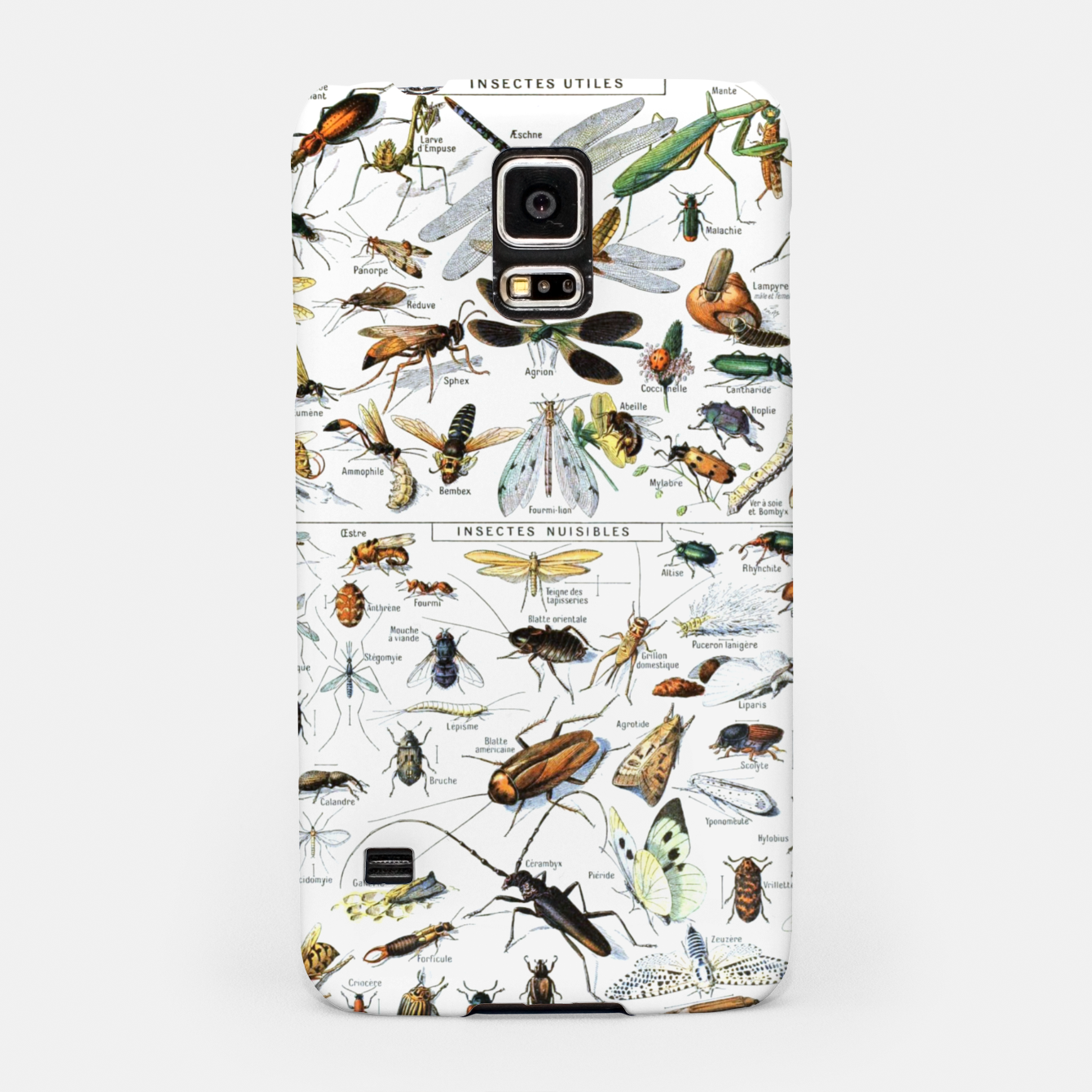 Foto Fashion and of an Illustration Map with Insects, from Larouse Encyclopedia Samsung Case - Live Heroes