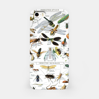 Fashion and of an Illustration Map with Insects, from Larouse Encyclopedia iPhone Case Bild der Miniatur