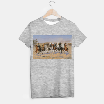 Miniature de image de Fashion items of Frederic Remington painting - A dash for Timber T-shirt regular, Live Heroes