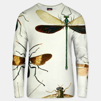 Fashion art of a illustration from a Encyclopedia about Insects Unisex sweater Bild der Miniatur
