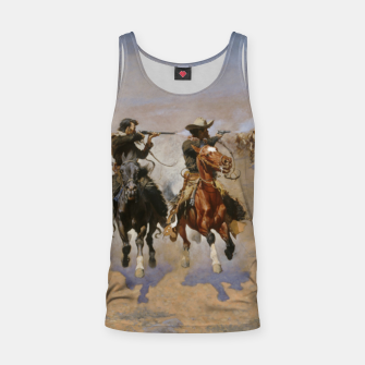 Thumbnail image of Fashion items of Frederic Remington painting - A dash for Timber Tank Top, Live Heroes