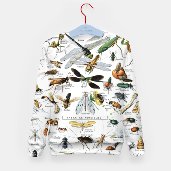 Fashion and of an Illustration Map with Insects, from Larouse Encyclopedia Kid's sweater Bild der Miniatur