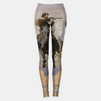 Thumbnail image of Fashion items of Frederic Remington painting - A dash for Timber Leggings, Live Heroes