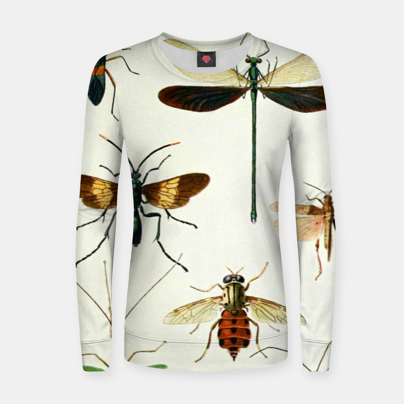 Foto Fashion art of a illustration from a Encyclopedia about Insects Women sweater - Live Heroes