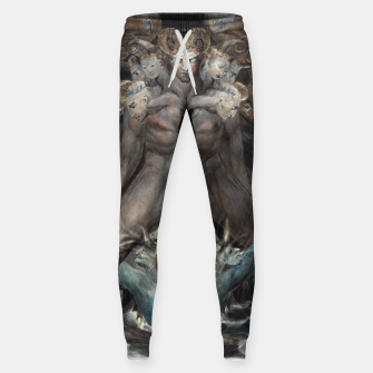 Thumbnail image of Fashion items of William Blake illustration , The Great Red Dragon and the Beast from the Sea Sweatpants, Live Heroes