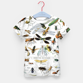Fashion and of an Illustration Map with Insects, from Larouse Encyclopedia Kid's t-shirt Bild der Miniatur