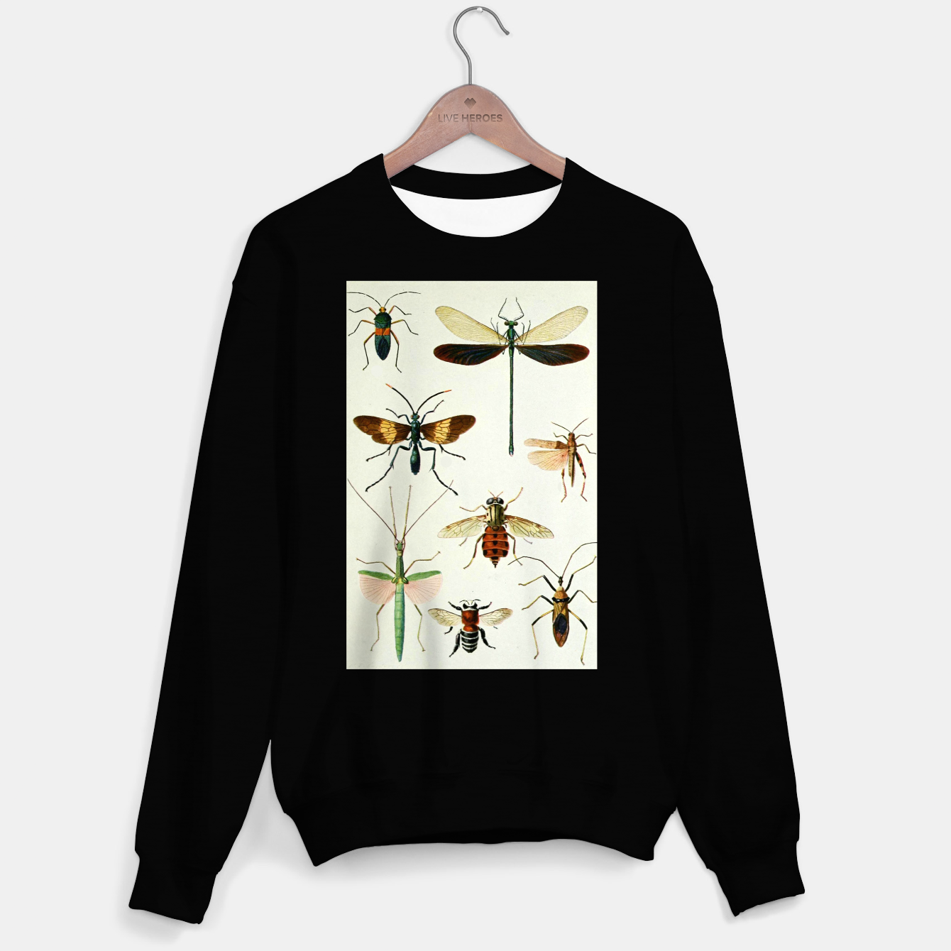 Foto Fashion art of a illustration from a Encyclopedia about Insects Sweater regular - Live Heroes