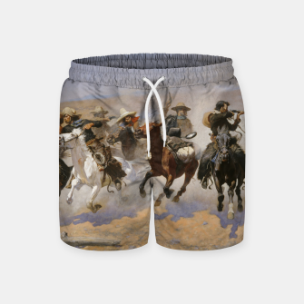 Thumbnail image of Fashion items of Frederic Remington painting - A dash for Timber Swim Shorts, Live Heroes