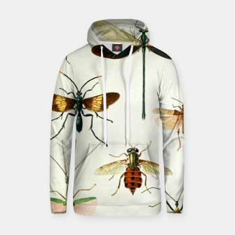 Fashion art of a illustration from a Encyclopedia about Insects Hoodie Bild der Miniatur