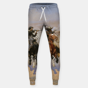 Thumbnail image of Fashion items of Frederic Remington painting - A dash for Timber Sweatpants, Live Heroes