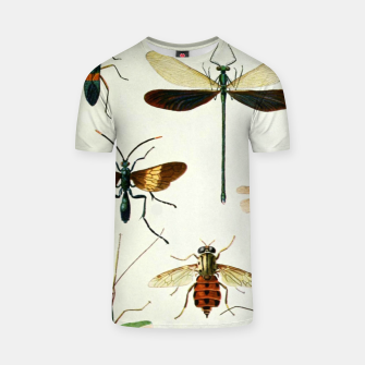Fashion art of a illustration from a Encyclopedia about Insects T-shirt Bild der Miniatur