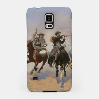 Thumbnail image of Fashion items of Frederic Remington painting - A dash for Timber Samsung Case, Live Heroes