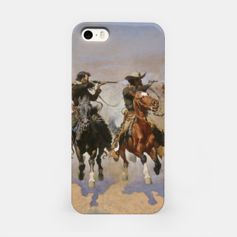 Thumbnail image of Fashion items of Frederic Remington painting - A dash for Timber iPhone Case, Live Heroes