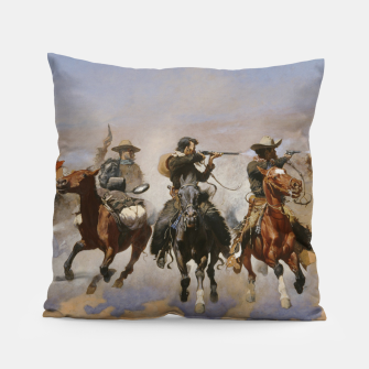 Thumbnail image of Fashion items of Frederic Remington painting - A dash for Timber Pillow, Live Heroes