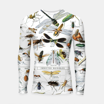 Fashion and of an Illustration Map with Insects, from Larouse Encyclopedia Longsleeve rashguard  Bild der Miniatur