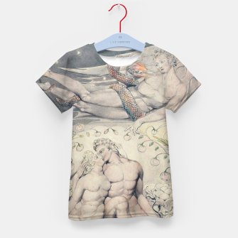 Miniatur Fashion items of William Blake Watercolour- Paradise Lost Kid's t-shirt, Live Heroes