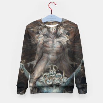Thumbnail image of Fashion items of William Blake illustration , The Great Red Dragon and the Beast from the Sea Kid's sweater, Live Heroes