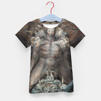Thumbnail image of Fashion items of William Blake illustration , The Great Red Dragon and the Beast from the Sea Kid's t-shirt, Live Heroes