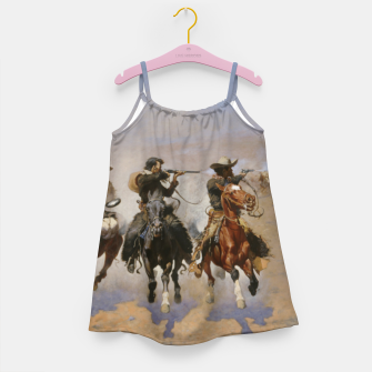 Thumbnail image of Fashion items of Frederic Remington painting - A dash for Timber Girl's dress, Live Heroes