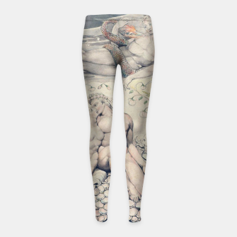 Miniatur Fashion items of William Blake Watercolour- Paradise Lost Girl's leggings, Live Heroes